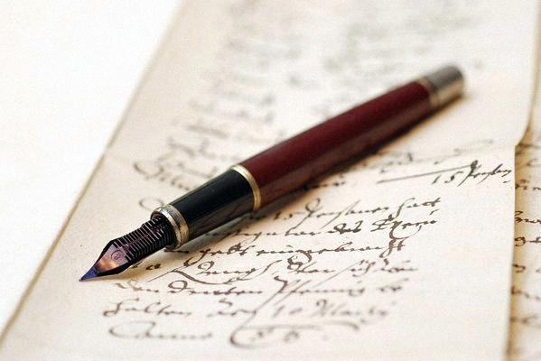 Письмо с ручкой Ватерман