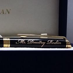Стильная гравировка на ручке