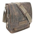 Купить дешево кожаная сумка наплечная вертикальная Wenger W23-05Br